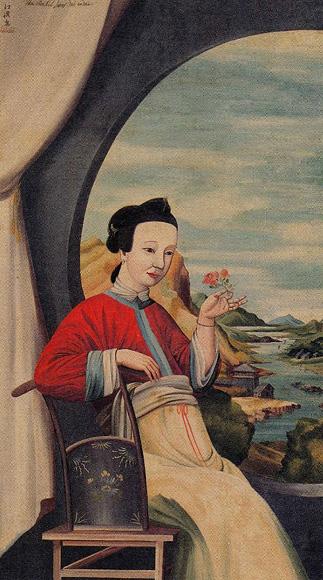 円窓唐美人図 作者 生没年 司馬江漢(しばこうかん) 1747(延享4)-1818(... 多摩